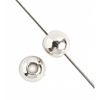 Metal Bead Round 5mm With 2mm Hole Nickel Plated